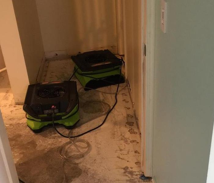 Equipment in Hallway to help with Drying Process